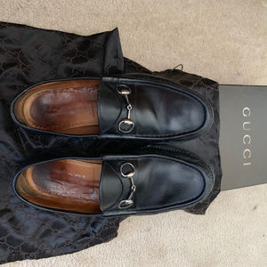 Gucci Leather Horsebit Mens Loafers